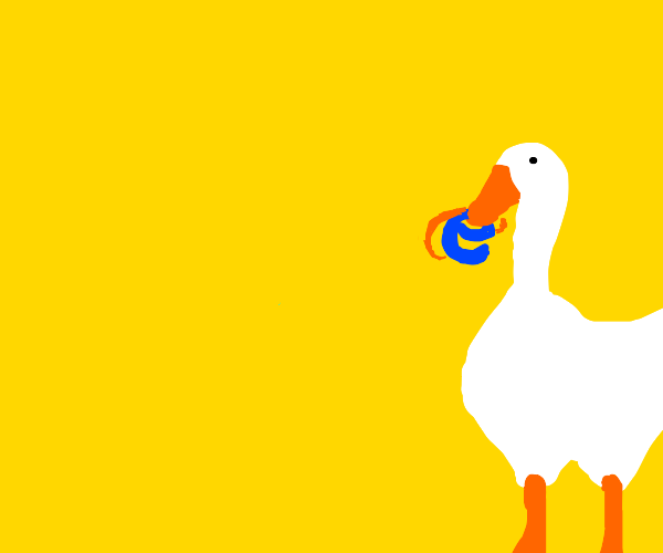 Internet explorer and his wild cousin, goose