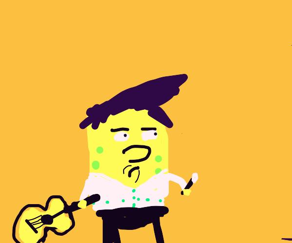 elvis sponge bob