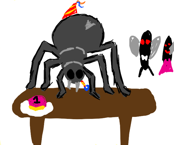 Tarantula Celebrating