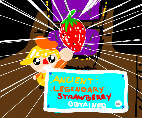 ancient legendary strawberry obtained!!!