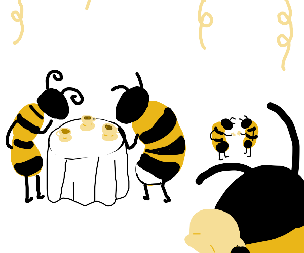 Bees having a tea party
