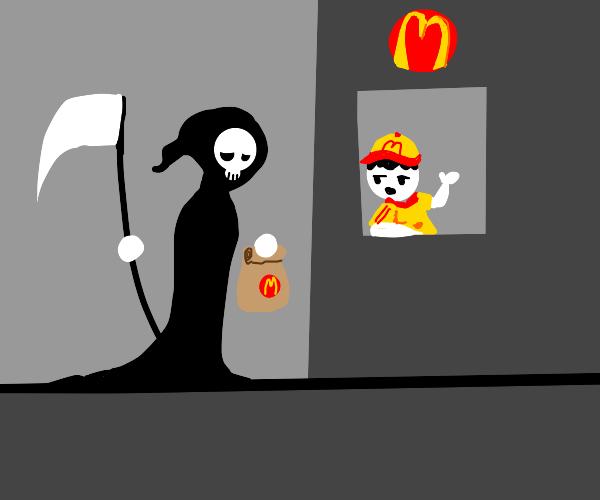 Grim reaper grabs some McDonald's