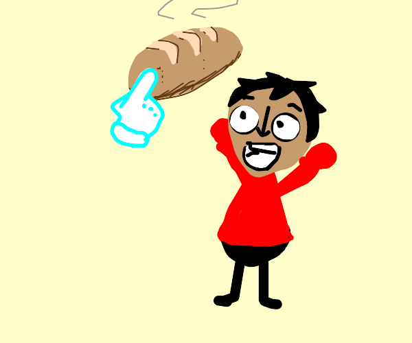 mii excited for fresh bread
