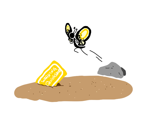 Butterfly jumping over Quicksand
