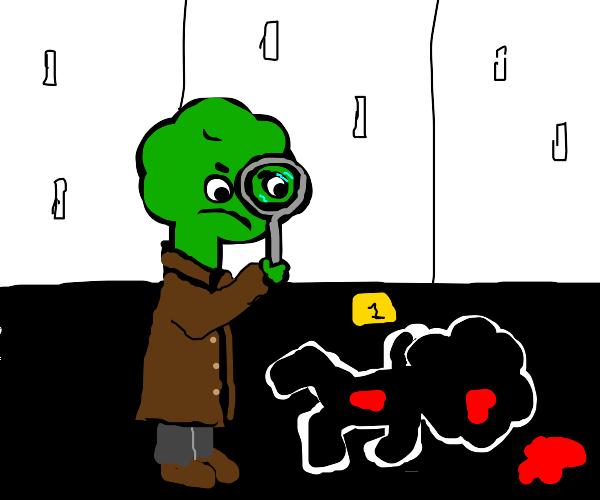 Homicide Detective Broccoli at crime scene