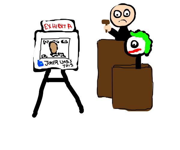 Joker goes to court for liking memes