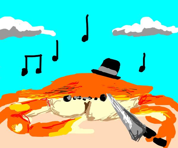 Singing dapper crab with a bigOLknife