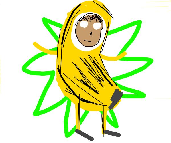 Guy in banana costume