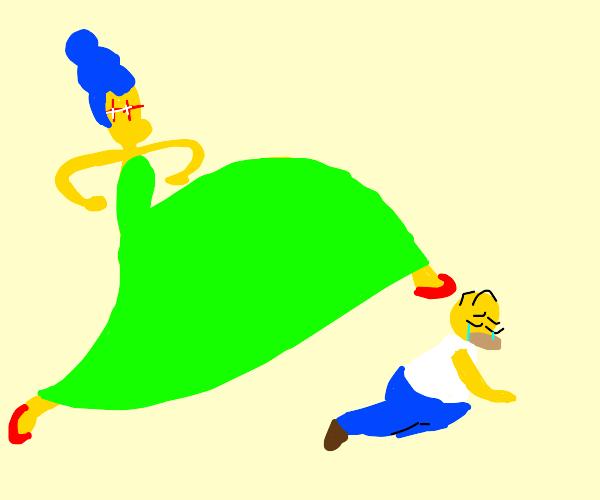 Marge finally retaliates against her husband