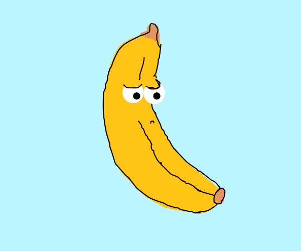 disappointed banana