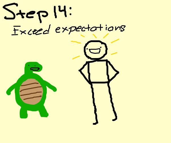 Step 13: Train Under the Turtle Hermit