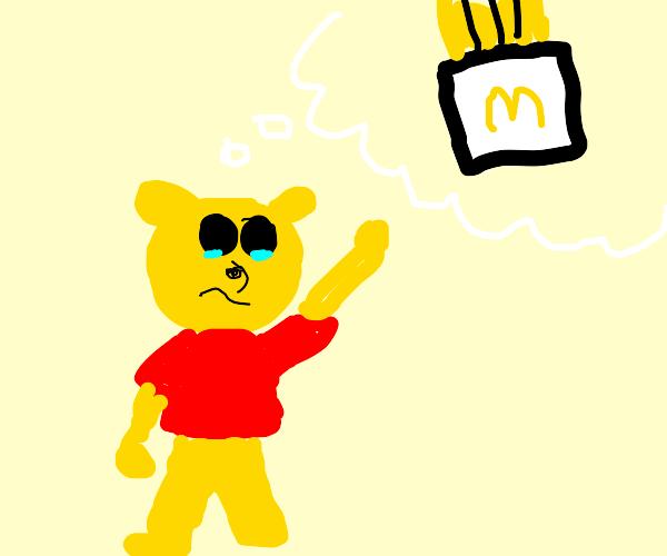 Winnie the pooh wants McDonald's fries