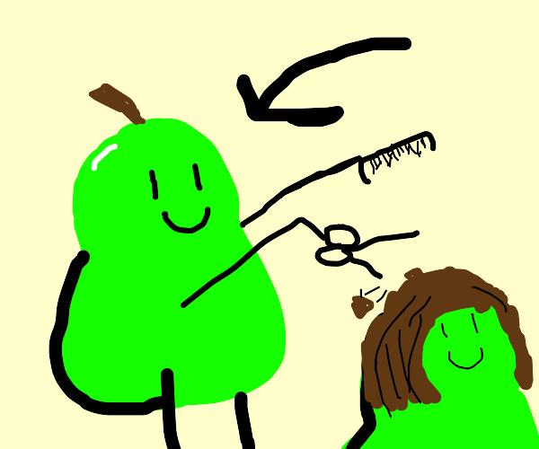 Pear hairdresser