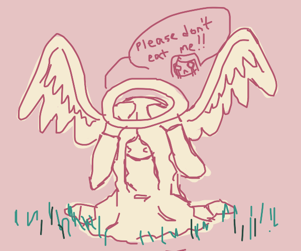 Angel doesnt want to be eaten