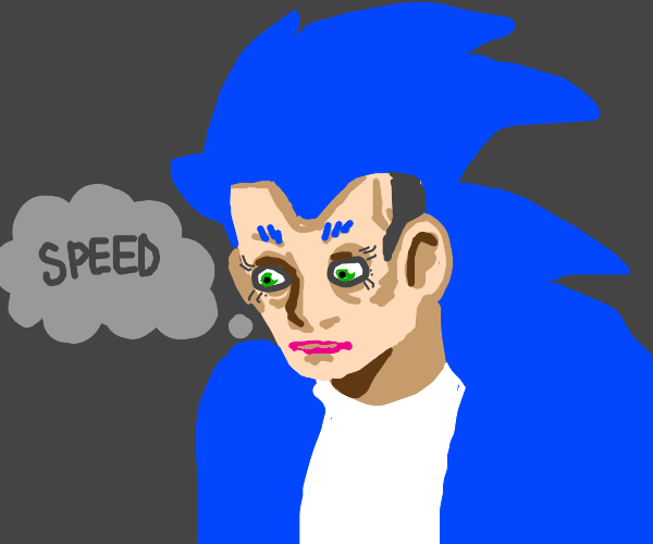 cosplaying as old movie Sonic
