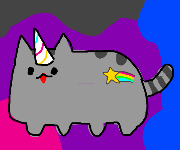 UNICORN PUSHEEN though with a cutie mark