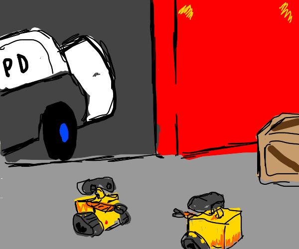 Wall-E meets another wall-E