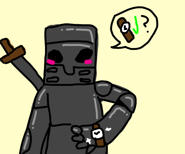 Knight shows you his shiny new watch