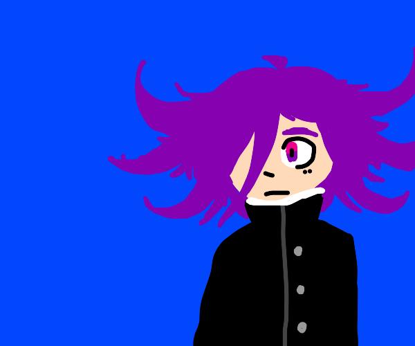 anime guy with purple hair