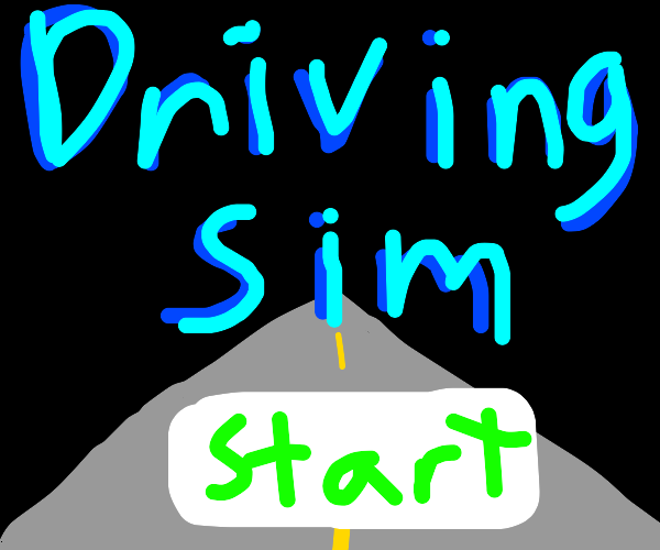Driving simulator title menu