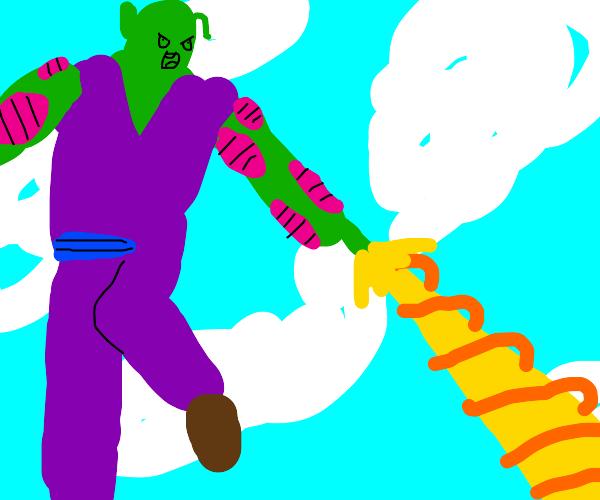 Piccolo doing Beam Cannon