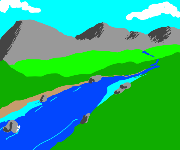 a beautiful flowing river