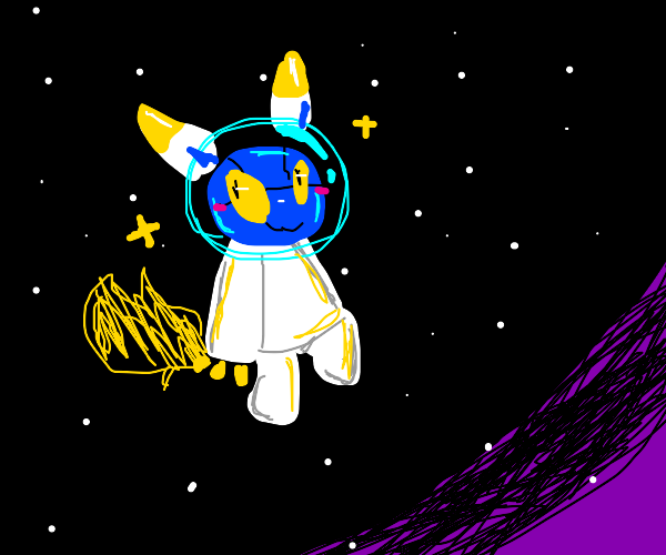 furry astronaut