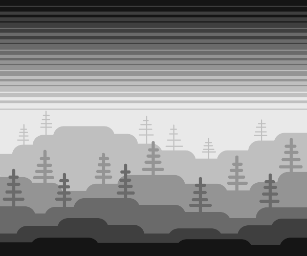 a gray forest
