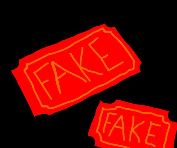 fake tix