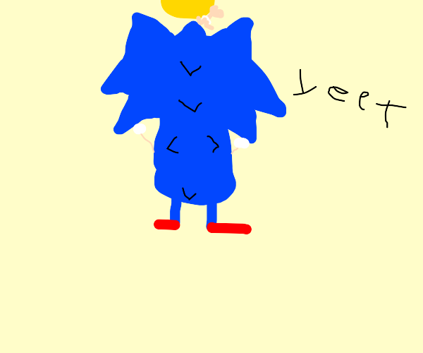 sonic yeets a baby into the sun