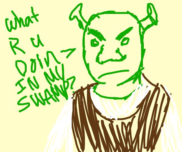 Angry Shrek Lol