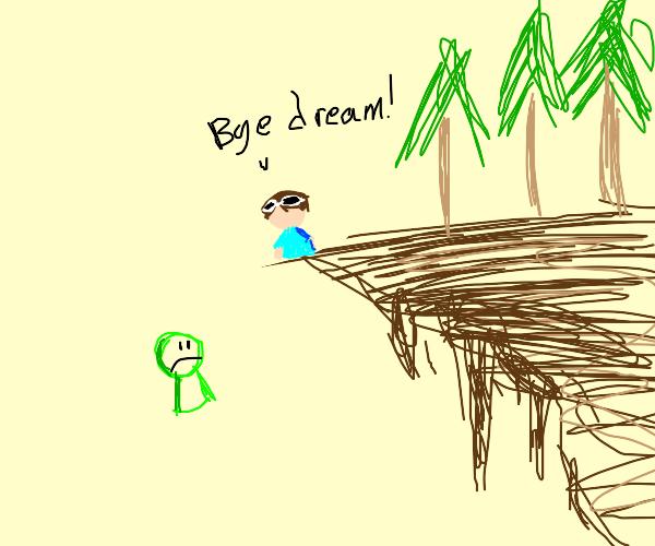 george throws dream off a cliff