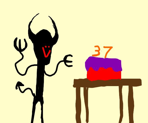 Black devil celebrates 37th birthday