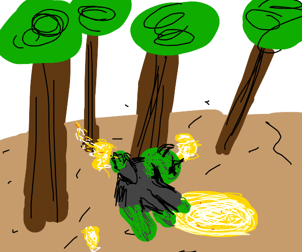 Orc digging into Quicksand