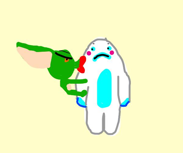 Gremlin kissing Yeti