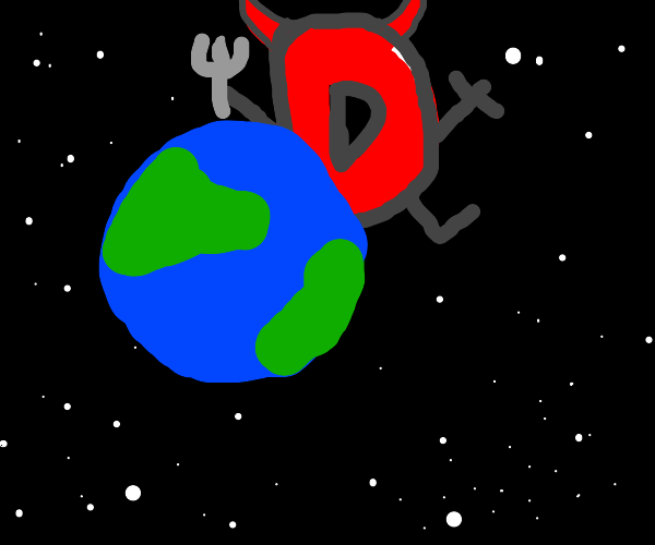 Devil Drawception looms over whole planet