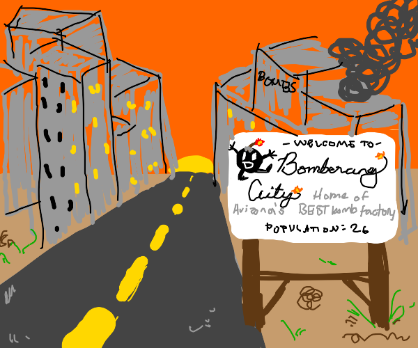 Bomberang island have a population of 26