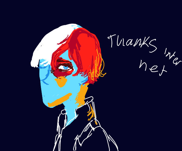 Some anime-looking guy thanking 4 internet pt