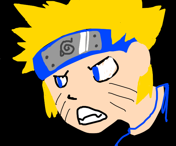 naruto character with swirly forehead