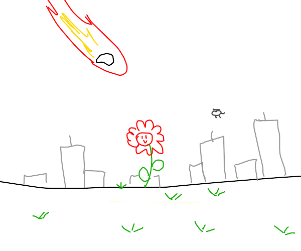 happy lil flower in the apocalypse