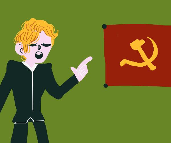 Man teaches the communist ways