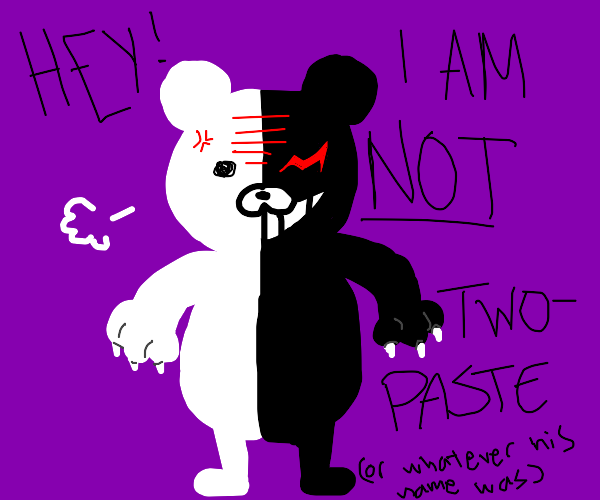 Two-Face as a bear