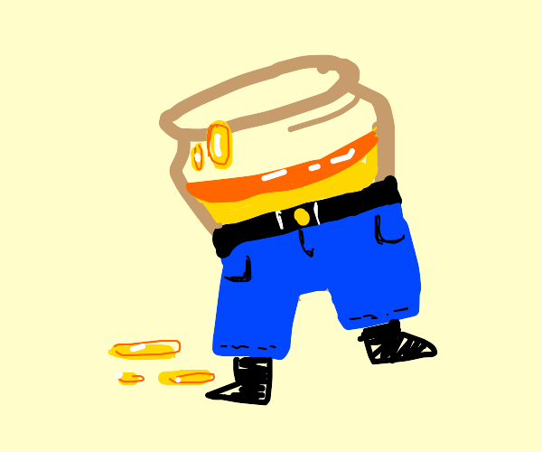 Jar of honey wears pants