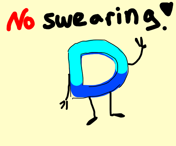 Drawception says: No swearing