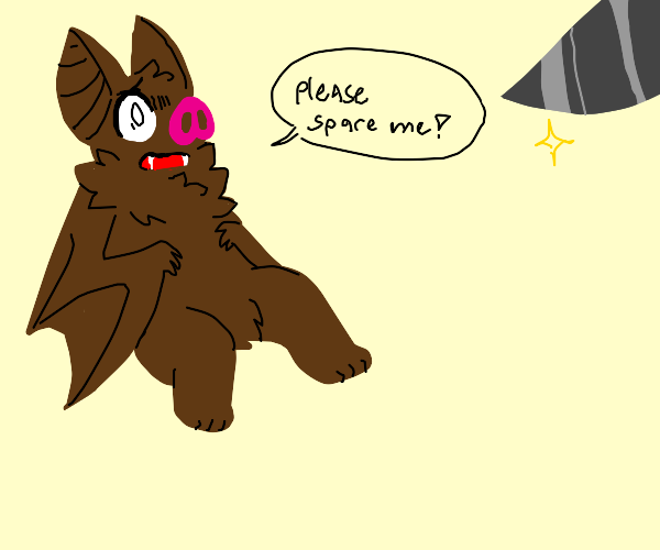 Anime Bat begs not to be killed
