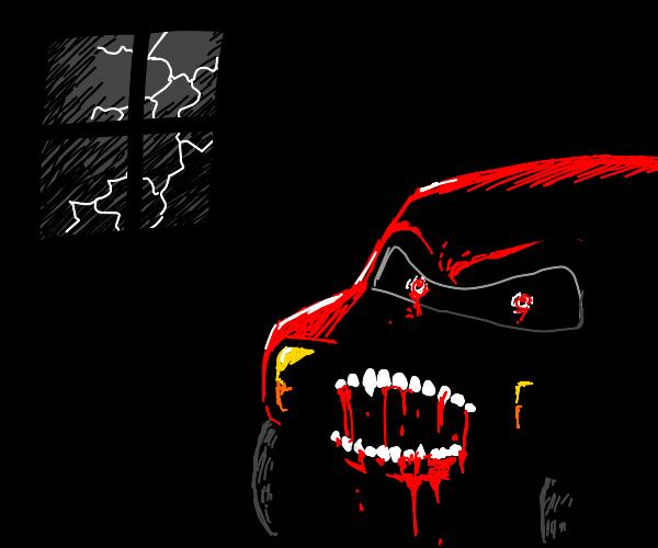 Scary lightning McQueen