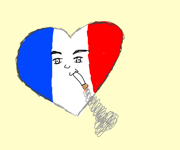 French heart smoking intently