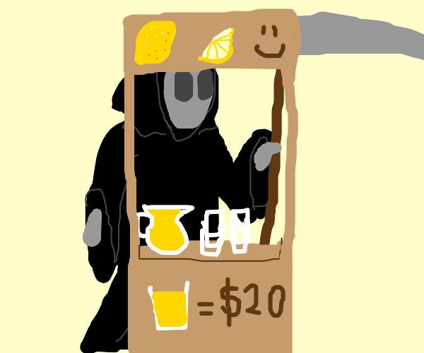 death selling overpriced lemonade