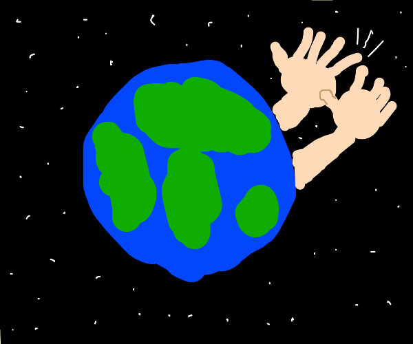 Earth clapping