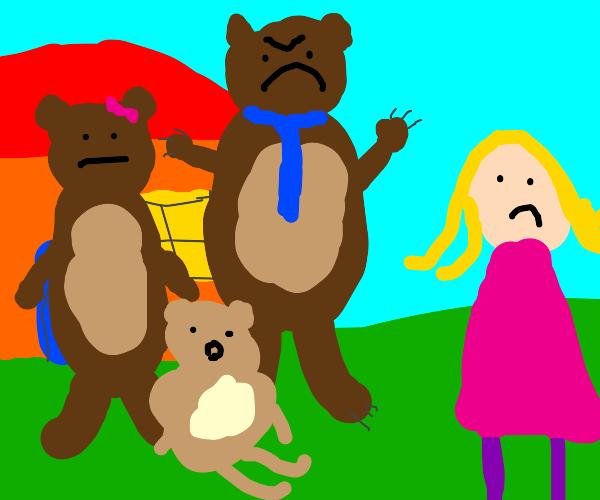 the bears kicking out goldilocks